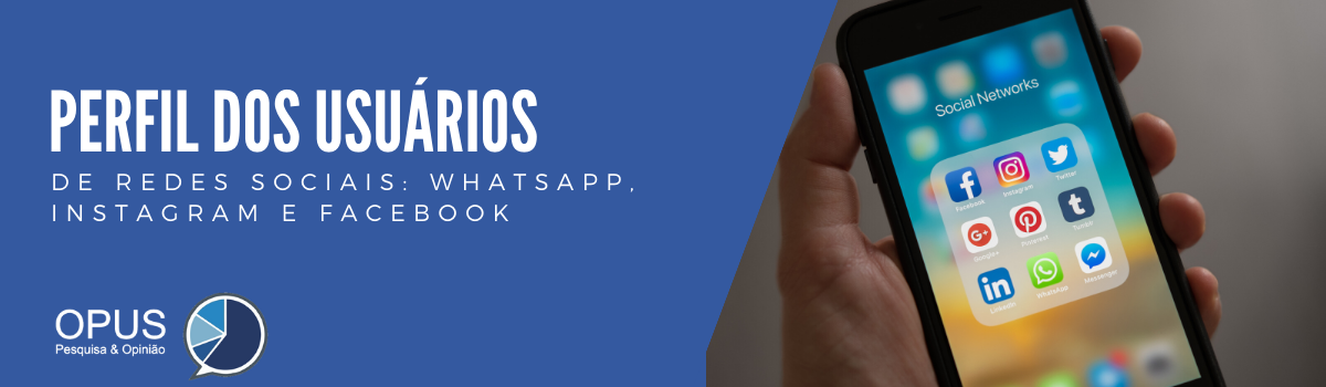 Perfil dos usuários das redes sociais: WhatsApp, Facebook e Instagram